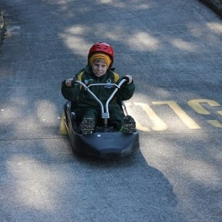 Will on the luge!