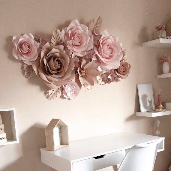 Nursery Paper Flower Paper Flower Wall Decor Nursery Wall Art