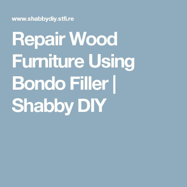 how to fix wood furniture