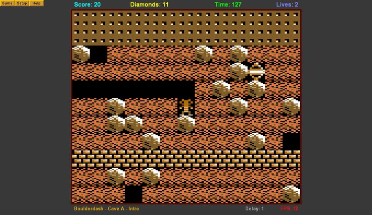 Boulderdash - Commodore 64 game. Man this was a good game