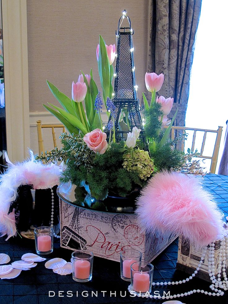 Paris Themed Table Centerpieces April In Paris Centerpieces For A Spring Party