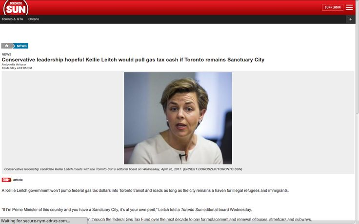 Conservative leadership hopeful Kellie Leitch would pull gas tax cash if Toronto remains Sanctuary City – #BREAKING https://breaking-news.ca/conservative-leadership-hopeful-kellie-leitch-would-pull-gas-tax-cash-if-toronto-remains-sanctuary-city