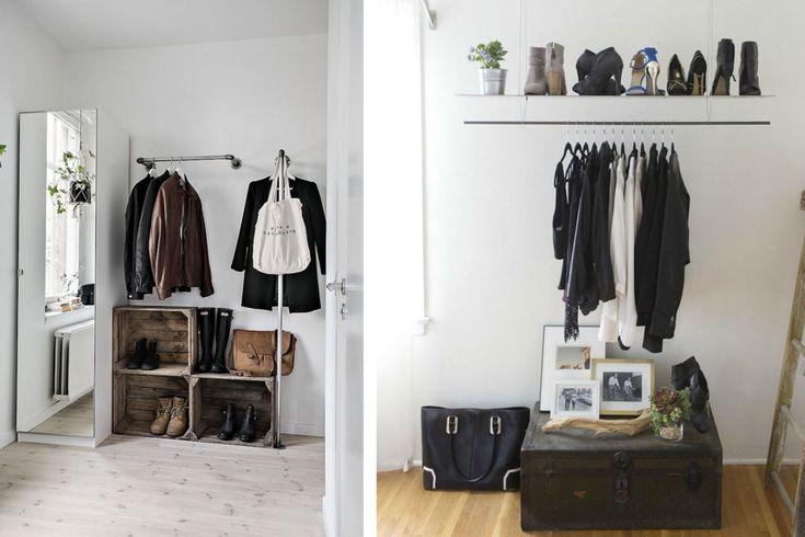 L'armadio aperto è un'ottima alternativa al classico ...