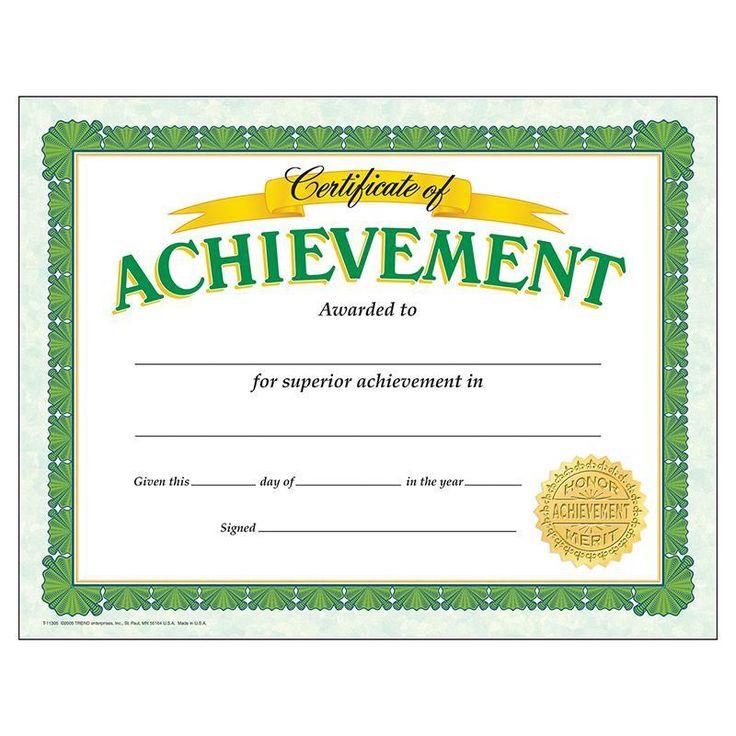 (6 Pk) Certificate Of Achievement Classic 30 Per Pk