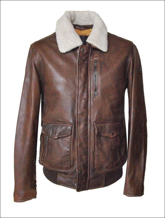 Ανδρικό δερμάτινο μπουφάν  Μοντέλο: Divali Δέρμα: nappa vintage Τιμή: 380€