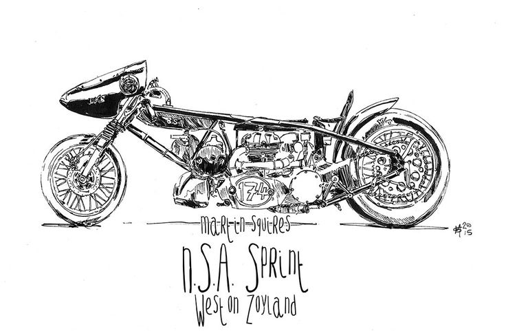 Supercharged BSA A65 UXB Drag Bike