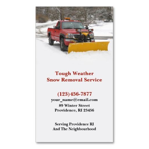 22 best snow removal business cards images on pinterest business snow plowing business card colourmoves