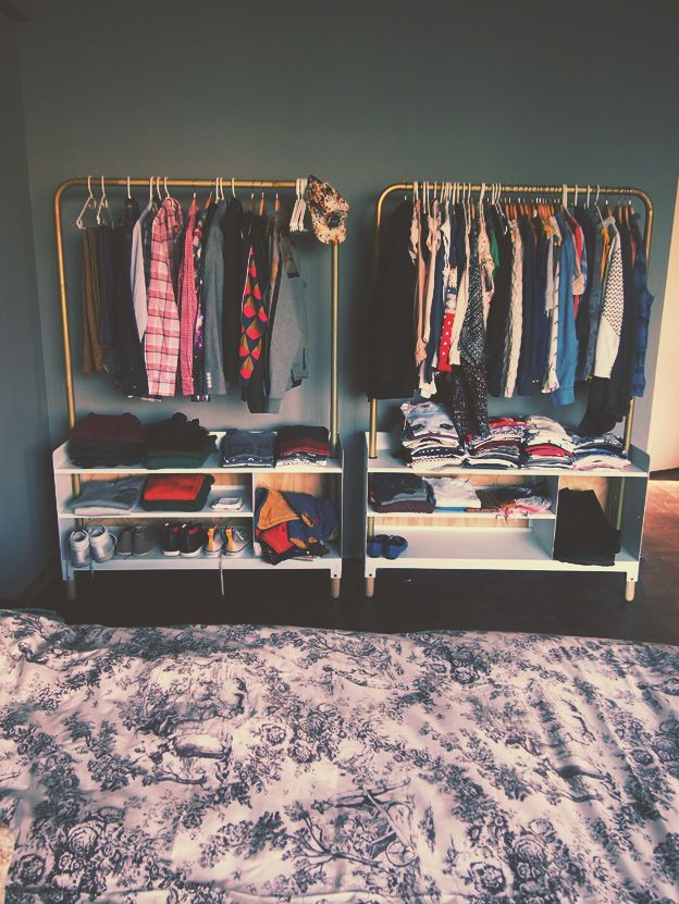 Best Clothing Storage Ideas On Pinterest Clothing - Cool diy coat rack for maximizing closet space