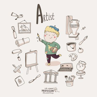 Cute Alphabet Profession - Alexandra Dikaia