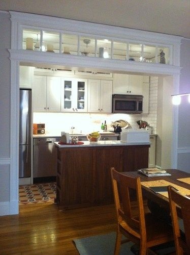 load bearing wall kitchen idea