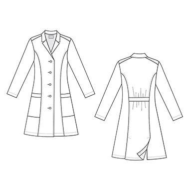 Scrub Works Women's Princess Seam Lab Coat | allheart.com