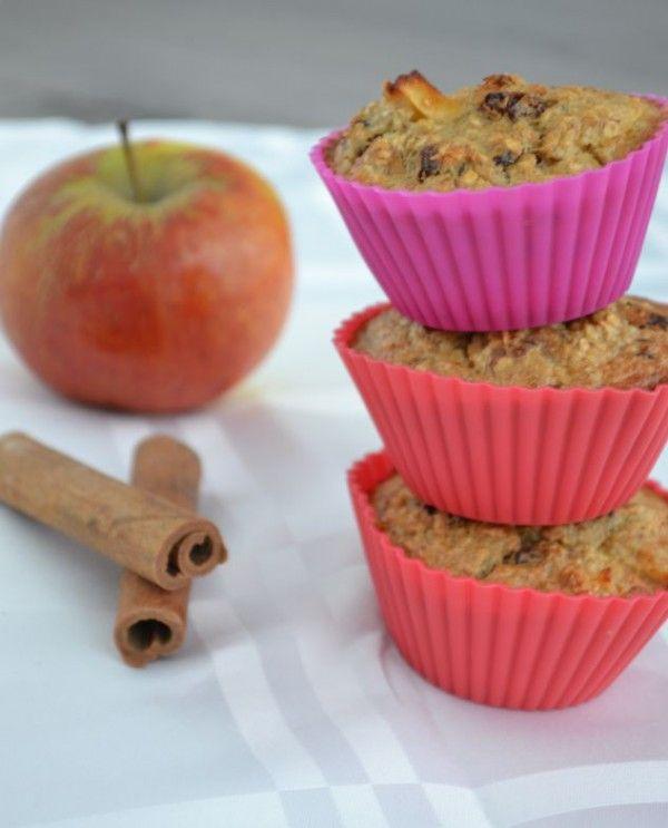 Havermout Muffins met Appel en Kaneel