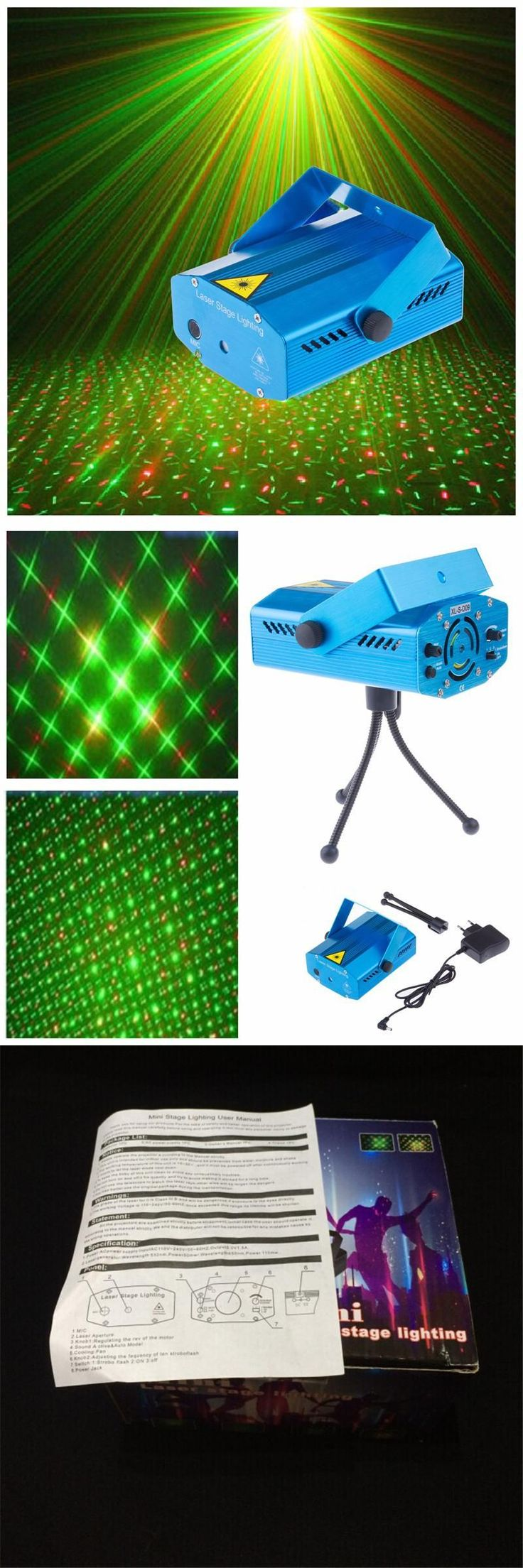 [Visit to Buy] RG Mini Laser Projector DMX LED Stage Lighting Professional DJ Equipment Strobe Dance Disco Light Home Party Show Lights #Advertisement