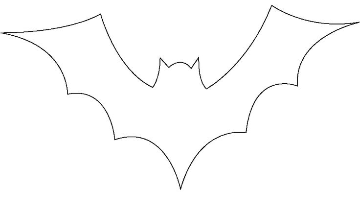 Selective image with bat stencil printable