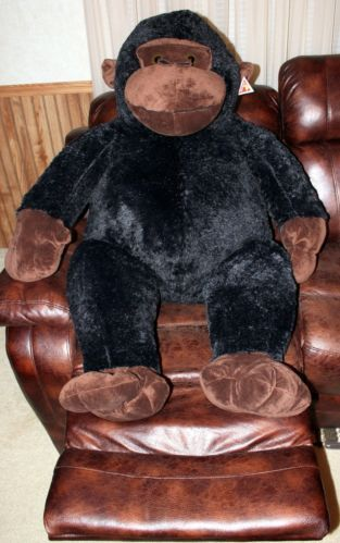 Giant Gorilla Ape Plush Stuffed Animal Black 50 Jumbo Huge Primate