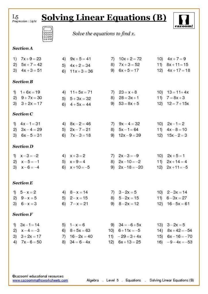 Free Algebra Worksheets For High School Check More At Https Www Tagua Ca Free Algebra Works In 2020 Algebra Worksheets Word Problem Worksheets Mathematics Worksheets