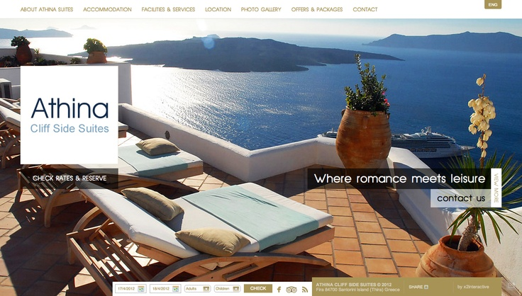 Athina Cliff Side Suites in Santorini. New website release at www.athinasuites.com.