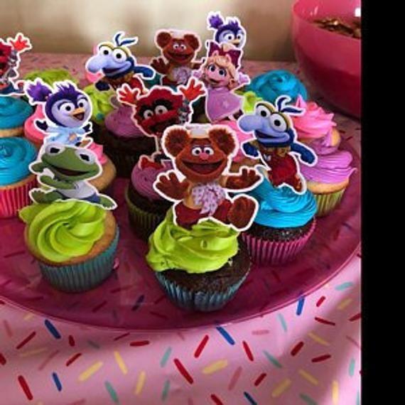 Cupcake Decorations Set of 12 MUPPET BABIES Cupcake Toppers Cupcake Picks