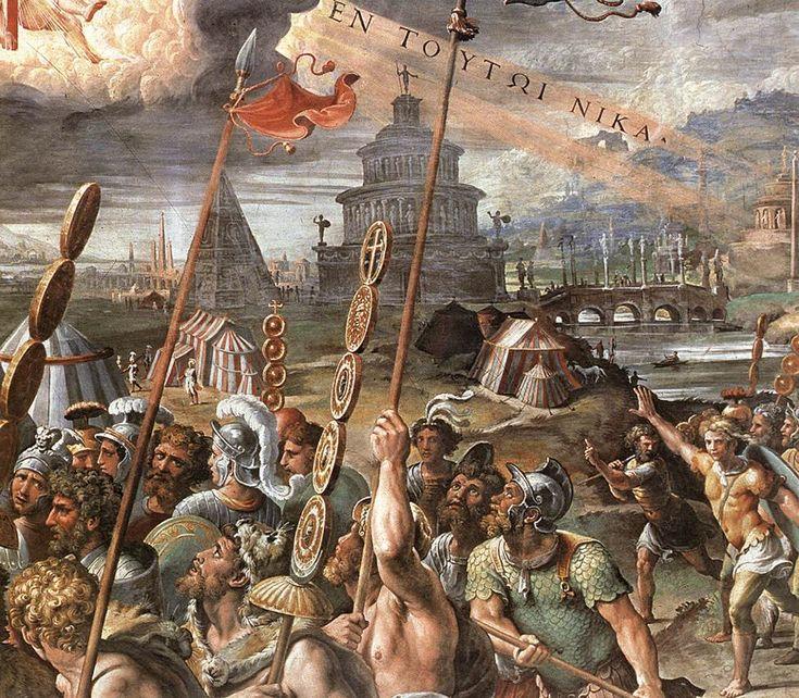 """Un'altra piramide era in area vaticana all'inizio della  Via Trionfale, corrispondente all'inizio della moderna Via della Conciliazione.È stata demolita nel 1499. appare anche sull'affresco con """"L'apparizione della Croce"""" dipinto da Giulio Romano nella Sala di Costantino dei Palazzi Vaticani (1520-24):"""