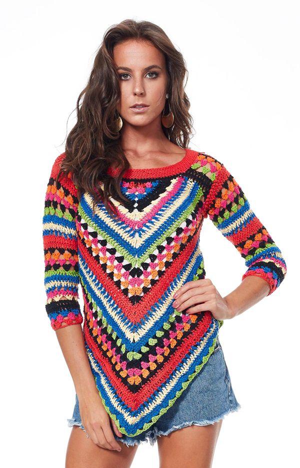 Blusa de Crochê Inspired - Linha Charme - Blog do Bazar Horizonte - Maior Armarinho Virtual do Brasil