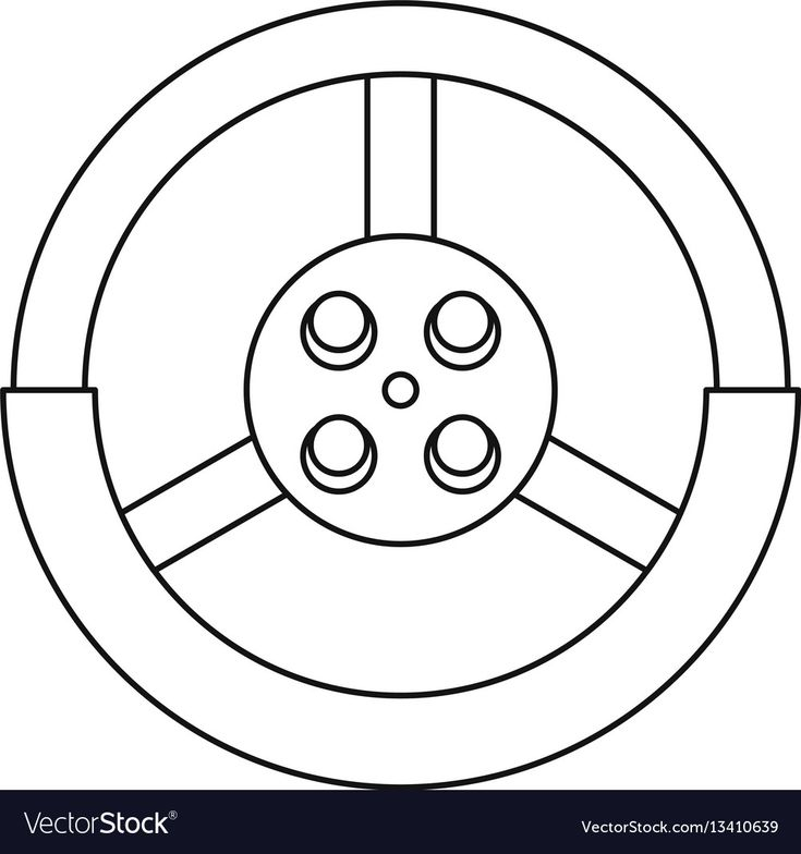 Steering wheel icon outline style vector image on ... - photo#32