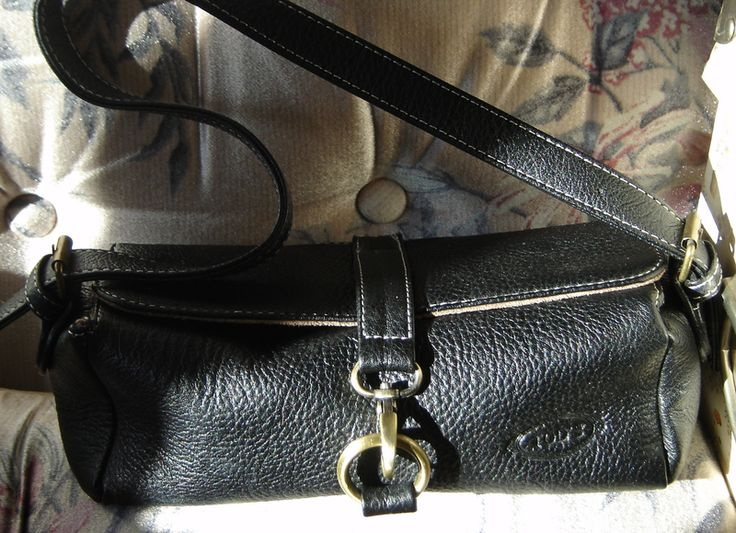 BLACK Mini TODs  PURSE CLUTCH HANDBAG WITH Adjustable Strap