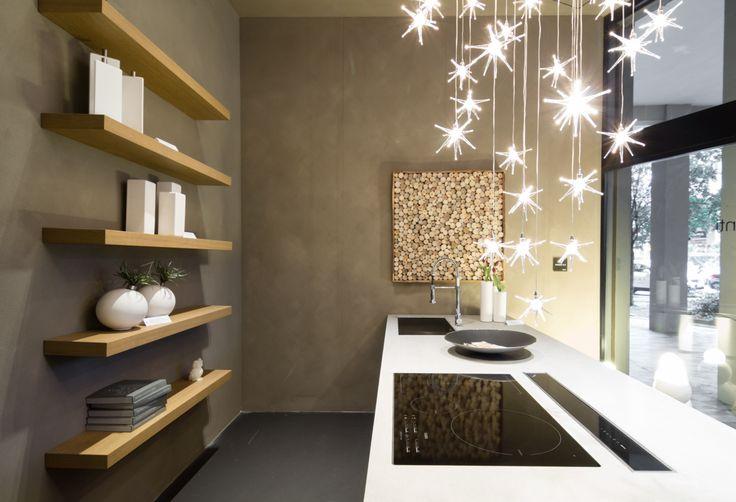 The corner of the renovated shop window of our partner Cesar Store Genova - Progetti Arredamenti with the new Maxima 2.2 #design #kitchen #interiors #interiordesign
