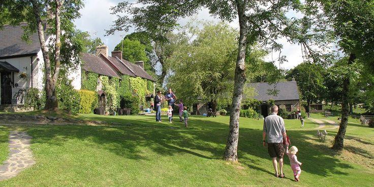 Clydey cottages, wales, cottage complex