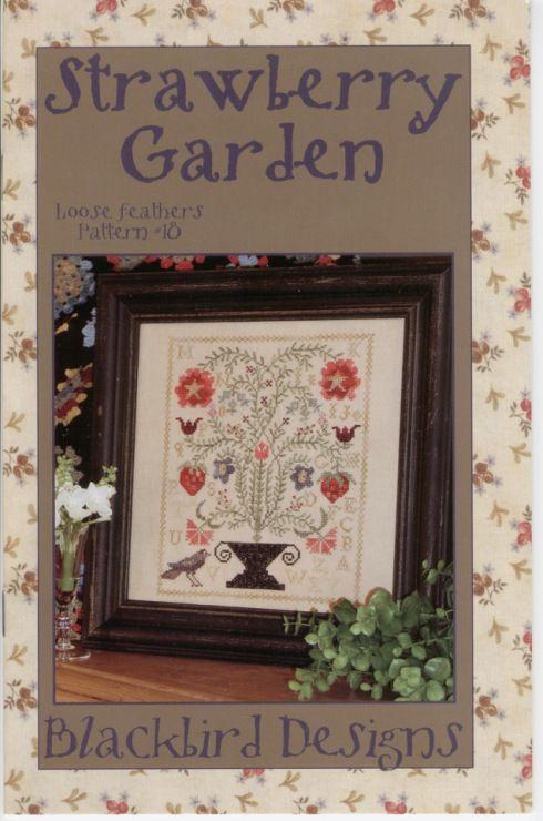 346 best cross stitch images on pinterest stitches for Blackbird designs strawberry garden