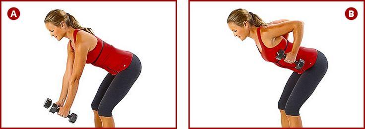Упражнения с гантелями для рук для женщин | Трицепс ...