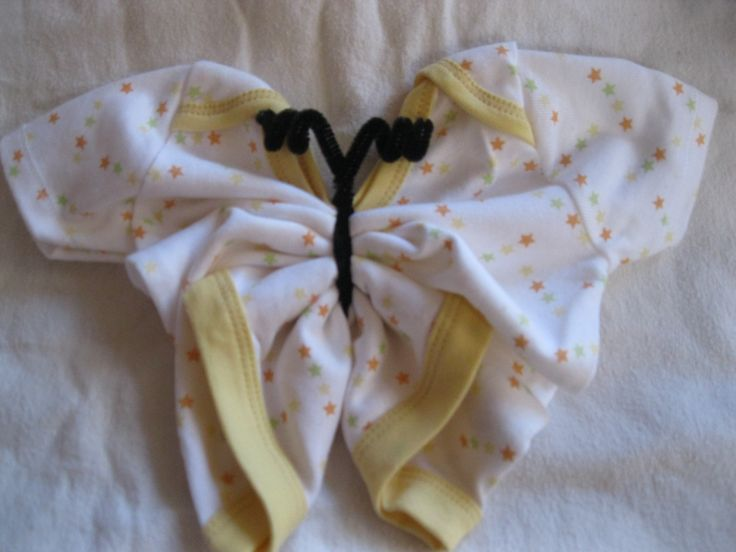 Take A Onsie And Make It Into A Butterfly! Then Use A Bow On Your Baby Gift  Basket Or Baby Shower Gift! Www.cuddlemebabies.com @Parents Magazine @The  Bump ...