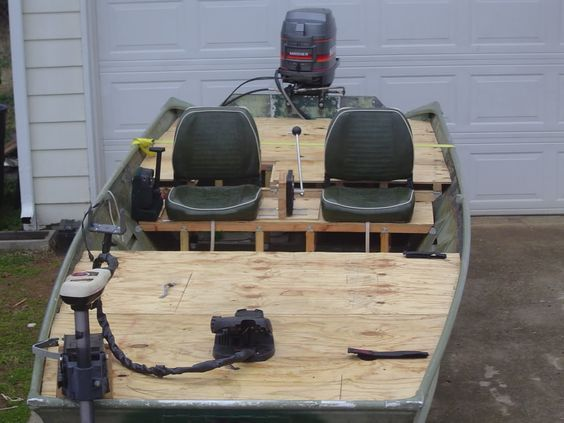 after looking over all the jon boat builds on here i decided to overhaul mine. i got most of my ideas from fluke masters build. it definatly was a learning ...