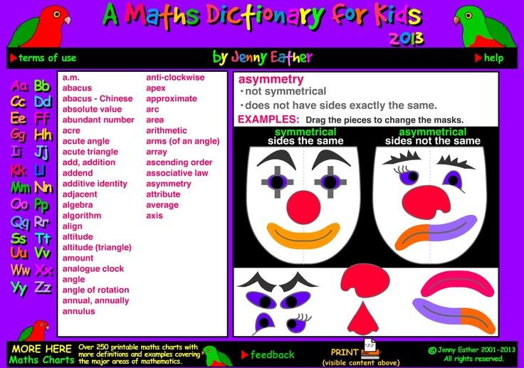 Kids online maths resources pinterest dictionary for kids math