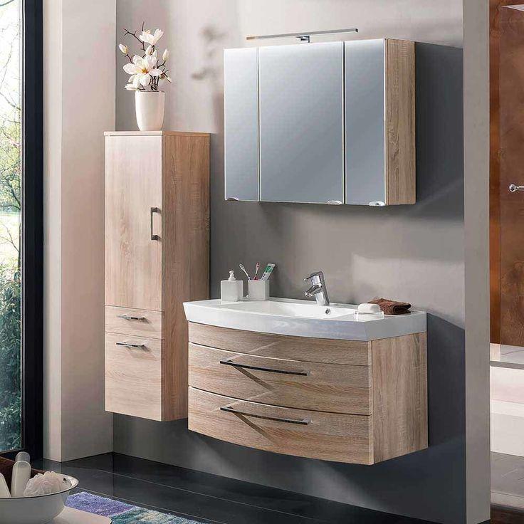 Badezimmermöbel Set In Sonoma Eiche Made In Germany (3 Teilig) Jetzt  Bestellen Unter