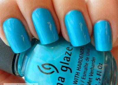 China Glaze Blue Nail Polish Towel Boy Toy Nails