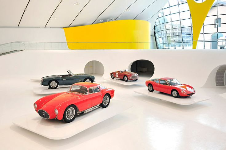 Ferrari Museum interior based on Jan Kaplicky's original design executed by Andrea Morgante of Shiro Studio.