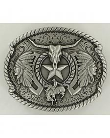 Nocona Men's Western Trifecta Belt Buckle