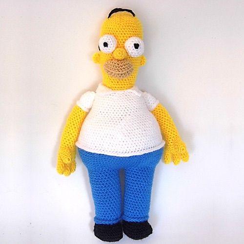 Muñeco Homer Simpson Amigurumi - Patrón Gratis en Español aquí: http://www.patronesamigurumi.org/patrones-gratuitos/personajes/homer-simpson/