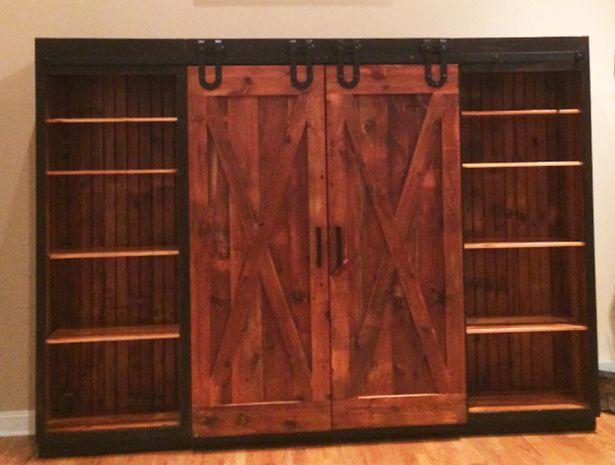 13 best images about barn door entertainment cabinet on pinterest fans sliding barn doors and. Black Bedroom Furniture Sets. Home Design Ideas