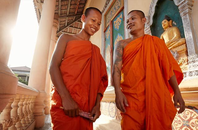 Cambodian monks.