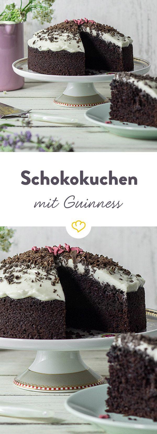 Das dunkle Guinness sorgt für einen leicht malzigen Geschmack und macht den Kuchen unglaublich saftig. Nicht nur für Bier-Liebhaber ein echter Geheimtipp!