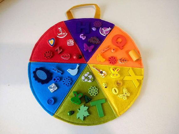 Montessori Toy Color Wheel. 42  wood pieces  incluided!  Free shipping!!