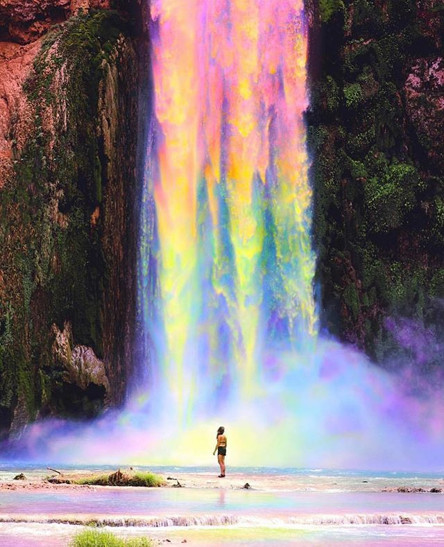 This Is What We Imagine A Waterfalls Aura To Look Like Artwork
