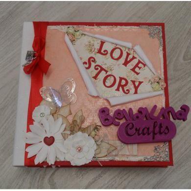 LOVE STORY - En este taller aprenderemos a realizar desde el principio paso a paso este álbum tan genial con una temática de San Valentín.