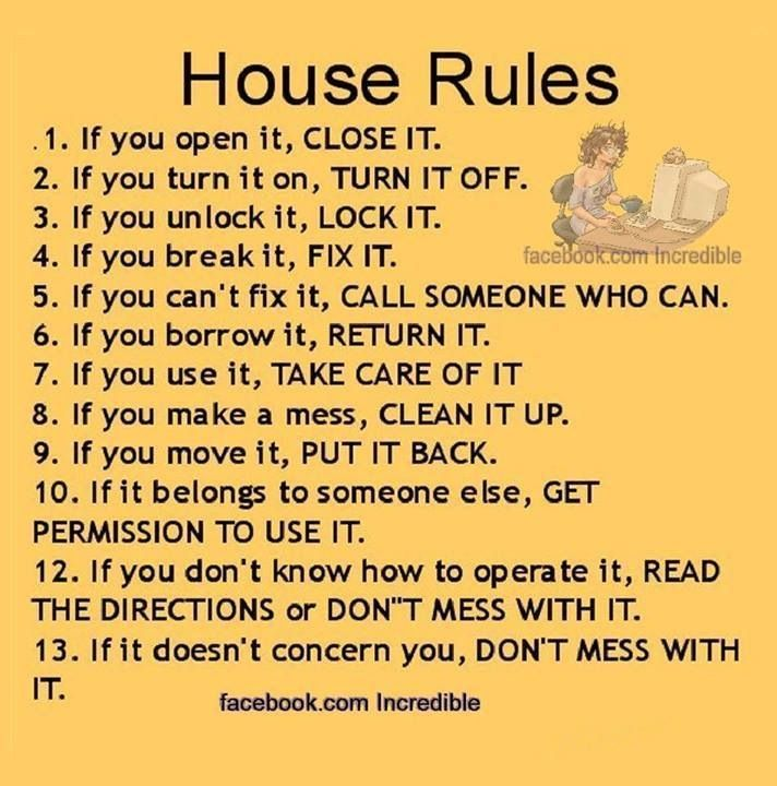 20 Best Images About House Rules Sayings On Pinterest In
