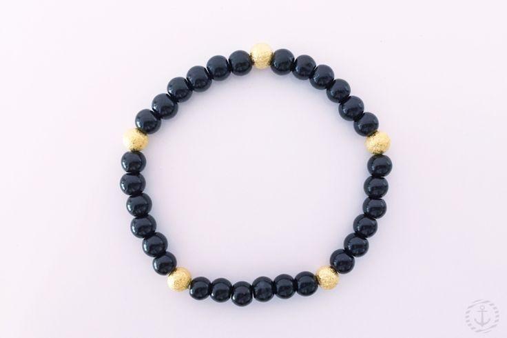 Armbänder - Perlenarmband mit Glitzerperlen - ein Designerstück von elbemaedchen87 bei DaWanda