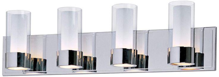 Maxim Silo Polished Chrome 4-Light Bathroom Light Fixture - #R6234   Lamps Plus