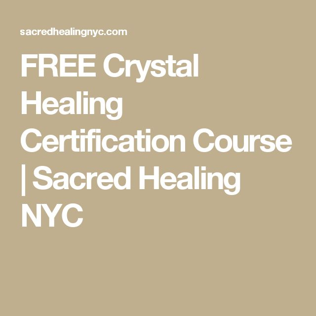 FREE Crystal Healing Certification Course | Sacred Healing