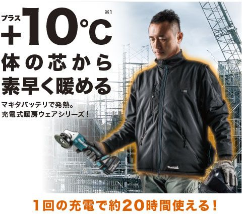 充電式暖房ジャケット CJ204DZFJ301DZ/FJ400DZ/FJ401DZ /株式会社マキタ