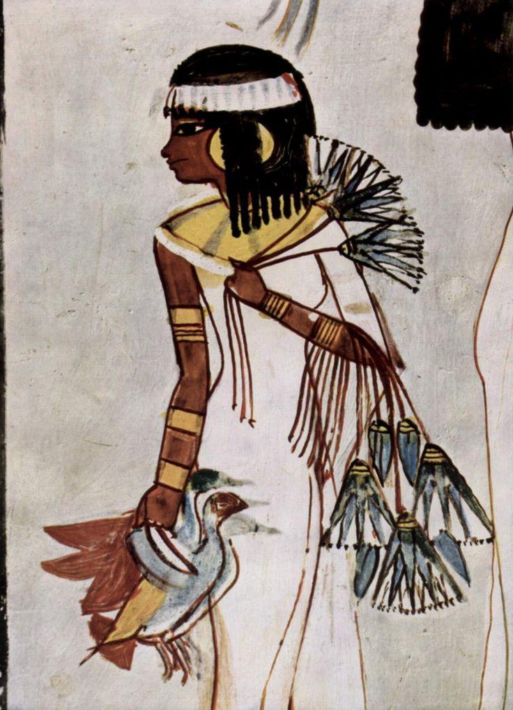 Mujer cazando patos en la Tumba de Menna